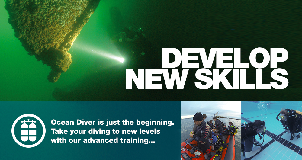 Advanced scuba dive training